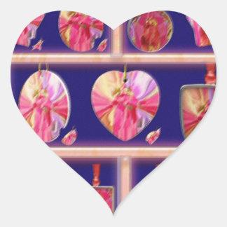 Cristal del diamante: Pétalos de RedRose PinkRose Calcomanías De Corazones