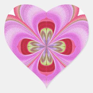 Cristal del diamante: Pétalos de RedRose PinkRose Pegatina De Corazon Personalizadas
