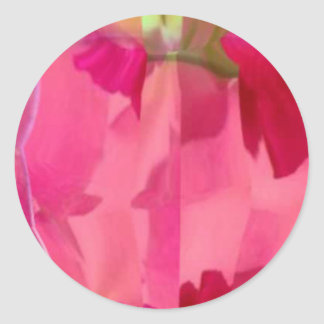 Cristal del diamante: Pétalos de RedRose PinkRose Pegatina Redonda