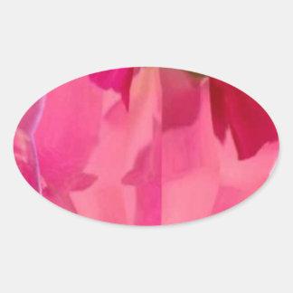 Cristal del diamante: Pétalos de RedRose PinkRose Pegatina Óval Personalizadas