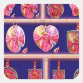 Cristal del diamante: Pétalos de RedRose PinkRose Colcomanias Cuadradases