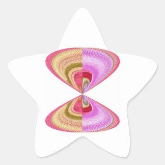 Cristal del diamante: Pétalos de RedRose PinkRose Calcomanías Forma De Estrellas