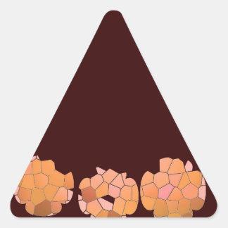 Cristal del diamante: Pétalos de RedRose PinkRose Calcomania De Triangulo