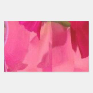 Cristal del diamante: Pétalos de RedRose PinkRose Rectangular Pegatina