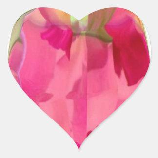 Cristal del diamante: Pétalos de RedRose PinkRose Pegatina De Corazón Personalizadas