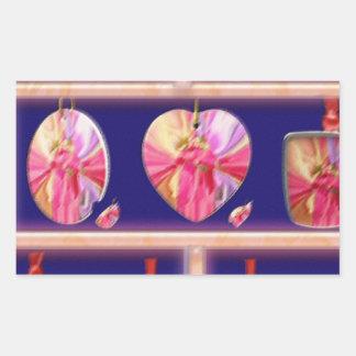 Cristal del diamante: Pétalos de RedRose PinkRose Rectangular Pegatinas