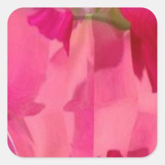 Cristal del diamante: Pétalos de RedRose PinkRose Calcomania Cuadradas