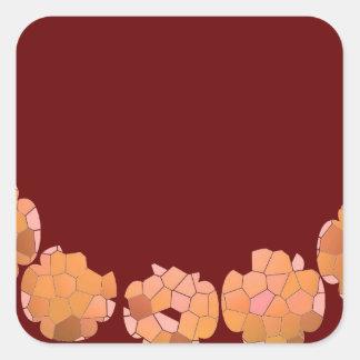 Cristal del diamante: Pétalos de RedRose PinkRose Calcomanía Cuadradas Personalizadas