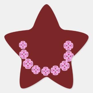 Cristal del diamante: Pétalos de RedRose PinkRose Calcomanía Cuadrada Personalizada