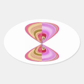 Cristal del diamante: Pétalos de RedRose PinkRose Calcomanía Óval