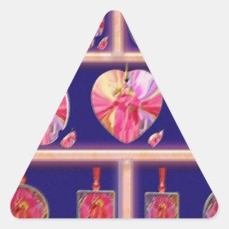 Cristal del diamante: Pétalos de RedRose PinkRose Calcomania Triangulo Personalizadas