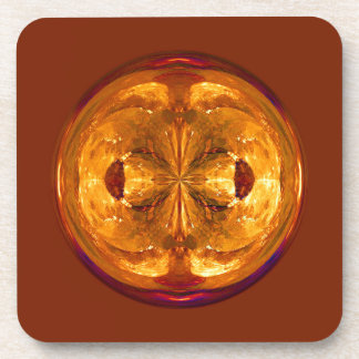 Cristal del fuego posavasos de bebida