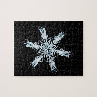 Cristal estelar de la nieve rompecabeza con fotos