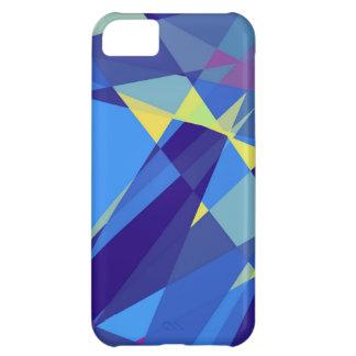 Cristal fresco del cubismo de los colores inconsút funda para iPhone 5C