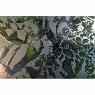 Cristal helado esculturas fotográficas