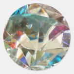 Cristal imponente pegatina redonda