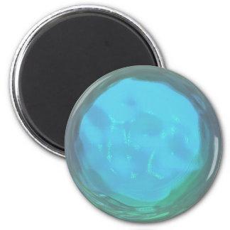 Cristal líquido - tenedor de nota del refrigerador imán redondo 5 cm