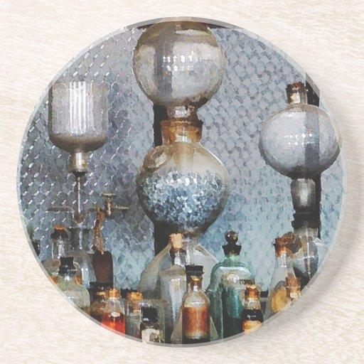 Cristalería de laboratorio posavasos diseño