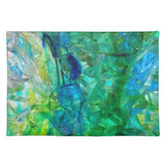 Cristales 2 del océano manteles individuales