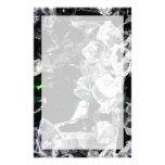 Cristales blancos en espacio exterior papelería personalizada