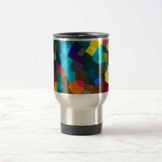 Cristales coloreados taza de viaje