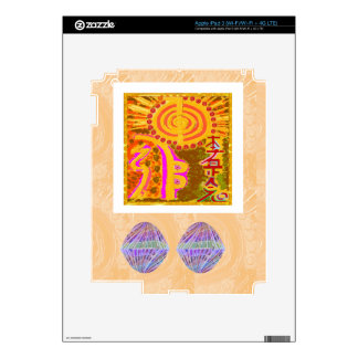 Cristales curativos de los símbolos n de REIKI iPad 3 Pegatina Skin