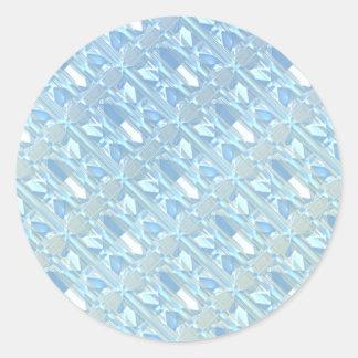 Cristales de hielo pegatina redonda