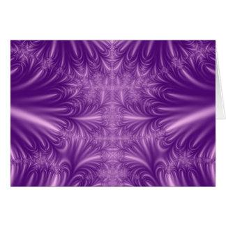 Cristales de hielo púrpuras tarjeta de felicitación