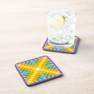 Cristales de la mandala del alma posavasos de bebidas