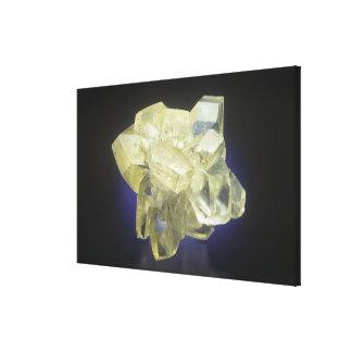 Cristales de la selenita impresión en lona