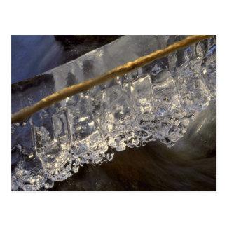 Cristales del agua tarjeta postal