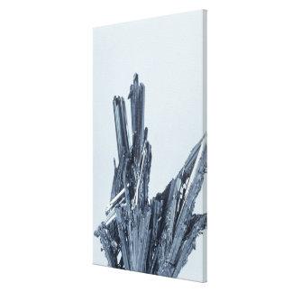 Cristales del Stibnite, el mineral principal del a Lona Envuelta Para Galerias