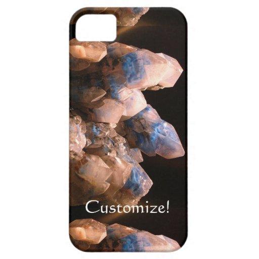 Cristales impresionantes azules embrionarios iPhone 5 funda