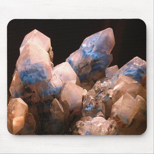 Cristales impresionantes azules embrionarios tapete de ratones