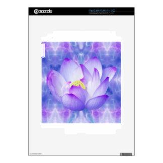 Cristales púrpuras de la flor y del fractal de calcomanías para el iPad 2