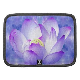 Cristales púrpuras de la flor y del fractal de lot planificador