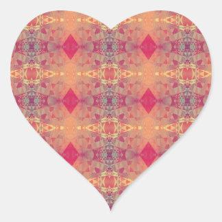 Cristales rosados luminosos calcomania de corazon
