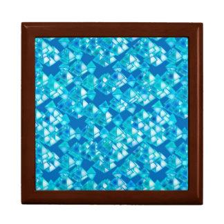 Cristales, turquesa y azul de la pirámide cajas de recuerdo