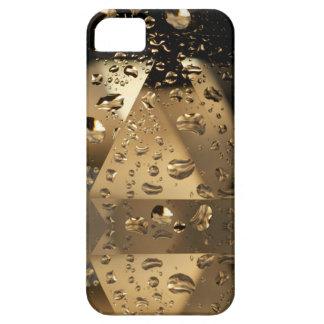 Cristales y gotitas de agua de oro iPhone 5 Case-Mate fundas