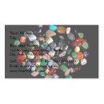 Cristales y piedras preciosas brillantes tarjetas de visita