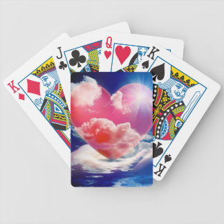cristallo di cuore bicycle playing cards