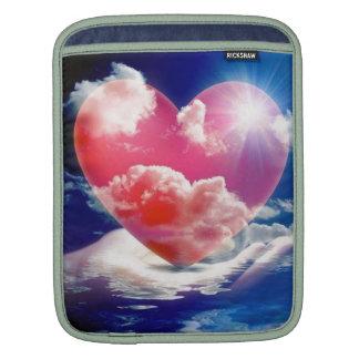 cristallo di cuore iPad sleeve