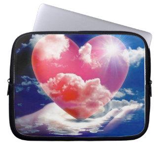 cristallo di cuore laptop computer sleeve