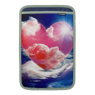 cristallo di cuore MacBook sleeve