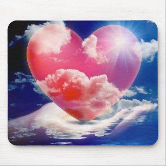 cristallo di cuore mouse pad