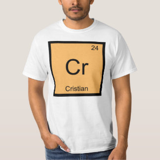 Cristian Name Chemistry Element Periodic Table T-Shirt