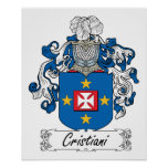 Cristiani Family Crest Print