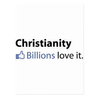 Cristianismo; Amor de los mil millones él Postales