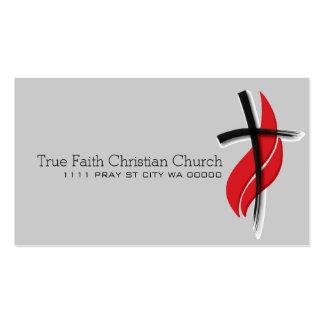 Cristianismo cristiano del pastor de la religión r plantillas de tarjeta de negocio