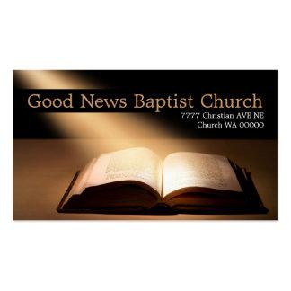 Cristianismo cristiano del pastor de la religión tarjetas personales